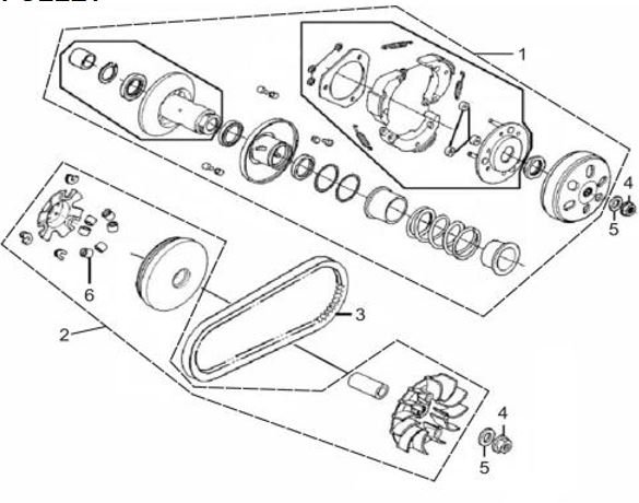 Scooter Clutch Diagram