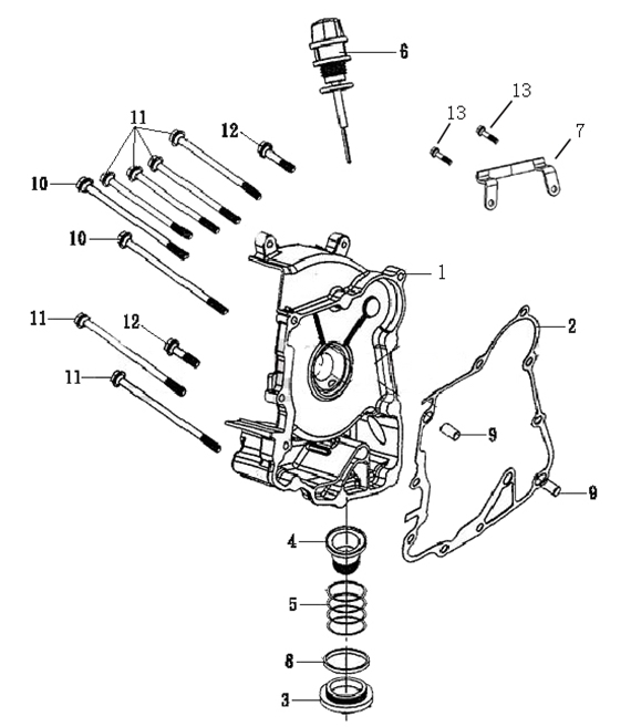 Tank 50cc Scooter Motor Diagram Com