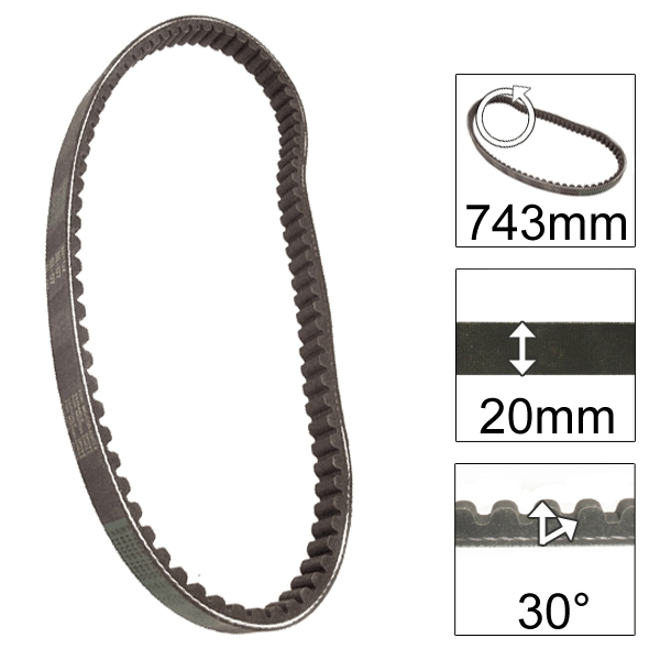 Lextek Drive Belt 743-20-30 (6 for the price of 4)