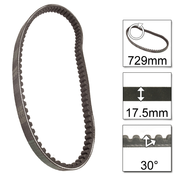 Lextek Drive Belt 729-17.5-30 (6 for the price of 4)