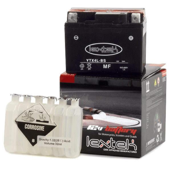 Lextek Wholesale  -  YTX4L-BS Motorcycle Batteries (16 for the price of 14)