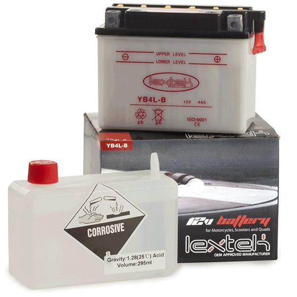 Lextek Wholesale  -  YB4L-B Motorcycle Batteries (16 for the price of 13)