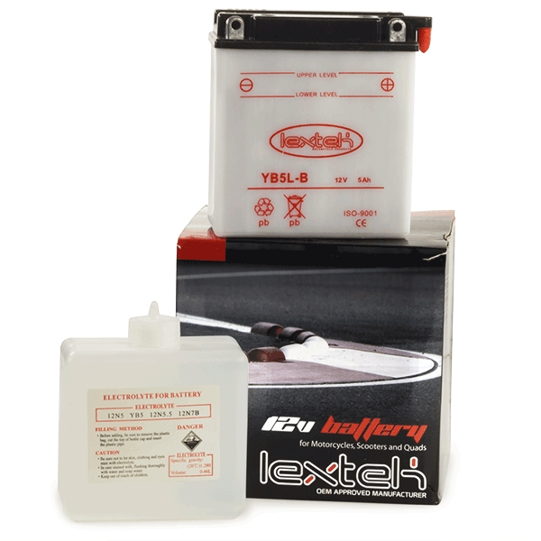 Lextek Wholesale  -  YB5L-B Motorcycle Batteries (16 for the price of 14)