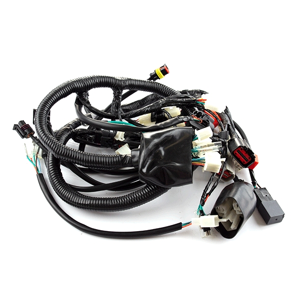 Wiring Loom - USB on cable carrier, wood loom, cable reel, multicore cable, carpet loom, cable dressing, cable management, crazy loom, cable loom, direct-buried cable,