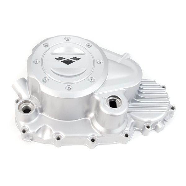 Right Crankcase Cover Recessed Clutch Hole with Lexmoto Logo Silver for ZS125-30