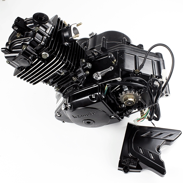 125cc Motorcycle Black Engine K157FMI with Lexmoto Logo ...
