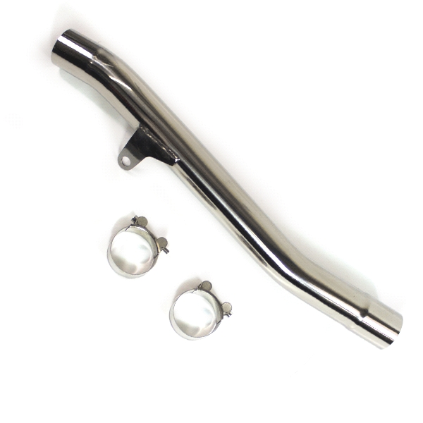 Lextek VP6 Matt S/Steel Tri Oval Exhaust with Link Pipe for Suzuki GSF1200 Bandit (96-06)