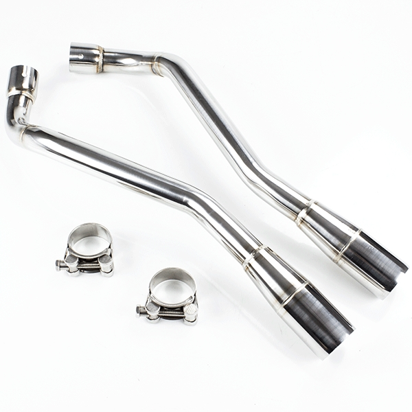 Lextek Stainless Steel Link Pipes for Yamaha XT 660 R X (04-16)