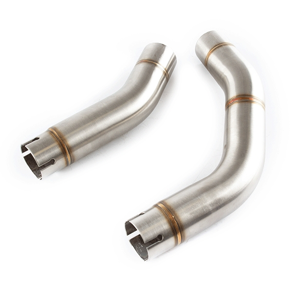 Lextek RP1 Gloss S/Steel Exhaust with Link Pipe for Yamaha YZF R1 (09-14)