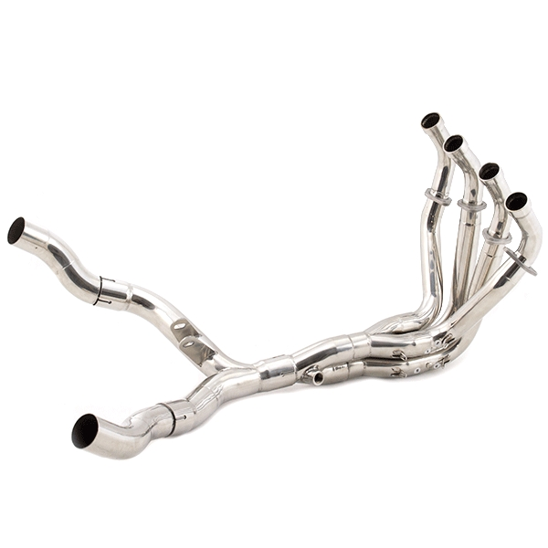Lextek Stainless Steel Exhaust Downpipe (Twin Sided) for Kawasaki Z1000 (10-19)