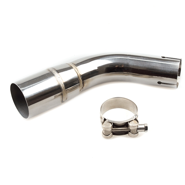 Lextek YP4 S/Steel Stubby Exhaust with Link Pipe for Suzuki SV650 (16-20)