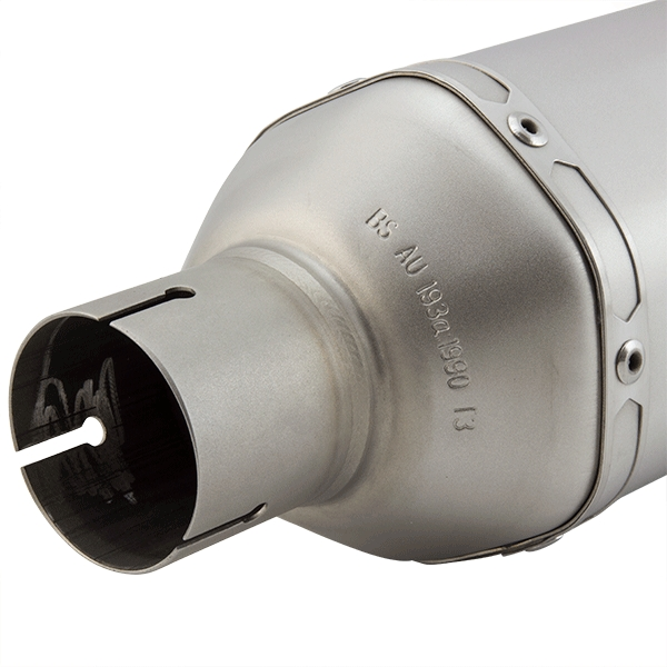 Lextek SP1 Matt S/Steel Hexagonal Exhaust Silencer 51mm