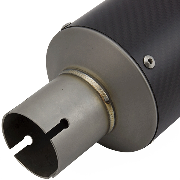 Lextek GP8C Carbon Fibre GP Stubby Exhaust Silencer 51mm