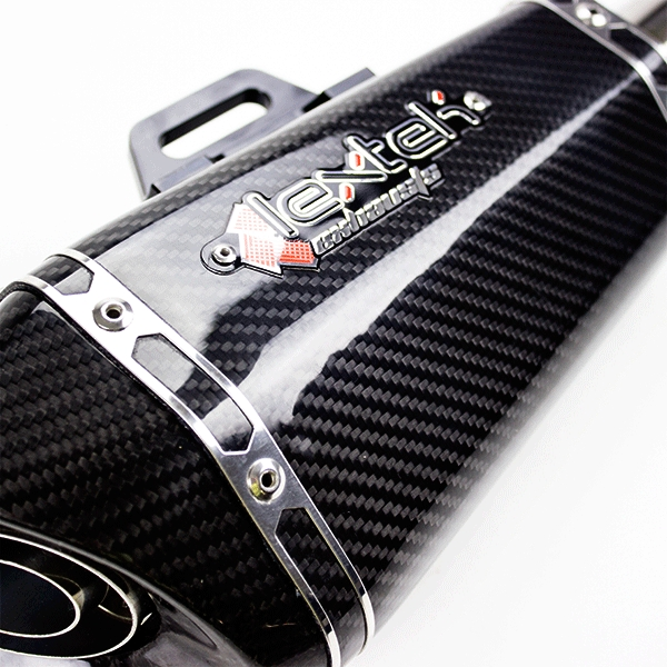 Lextek XP8C Carbon Fibre Hexagonal Exhaust Silencer (Right Hand) 51mm