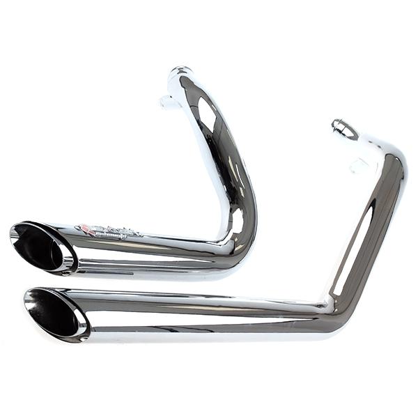 Lextek Chrome Exhaust System for Harley Davidson Sportster 883 / 1200  (04-13)