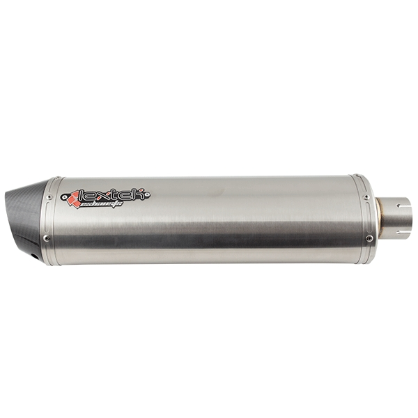 Lextek Gloss Carbon Tip RP1 Right Exhaust Silencer 51mm Inlet
