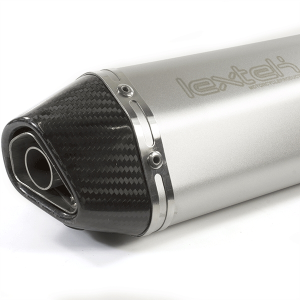 Lextek SA1 Matt S/Steel Hexagonal Exhaust Silencer 37mm