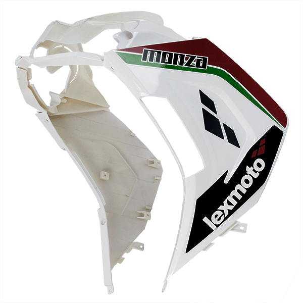 Lower Panel (Front) White/Red for ZN125T-34