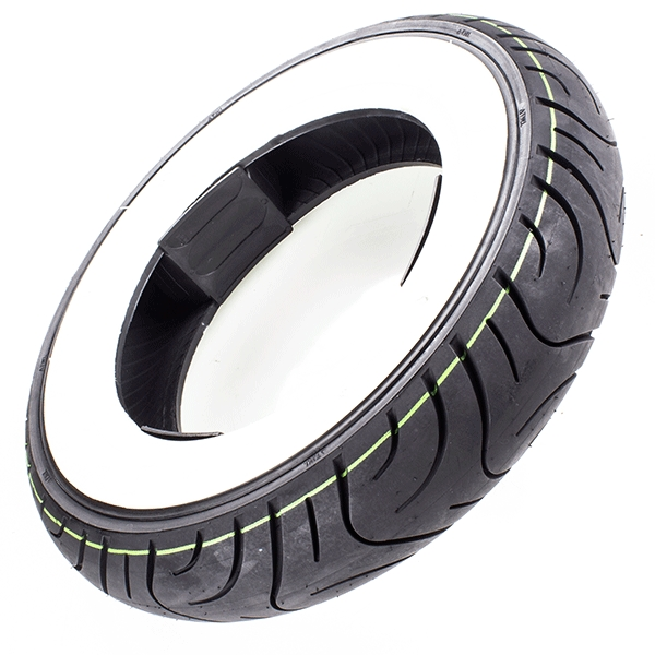 Scooter White Wall Tyre 3.50-10 J Tubeless