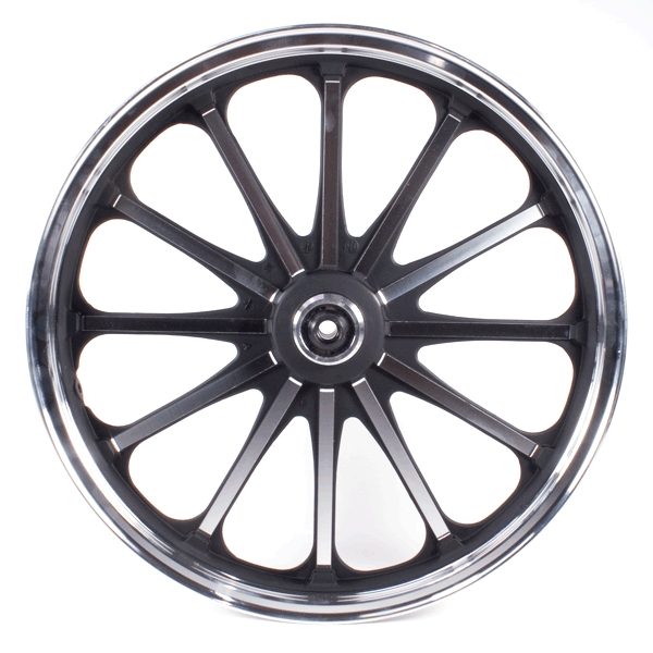 Multi-Spoke Front Wheel 18x1.85 Silver/Black (Disc Brake)