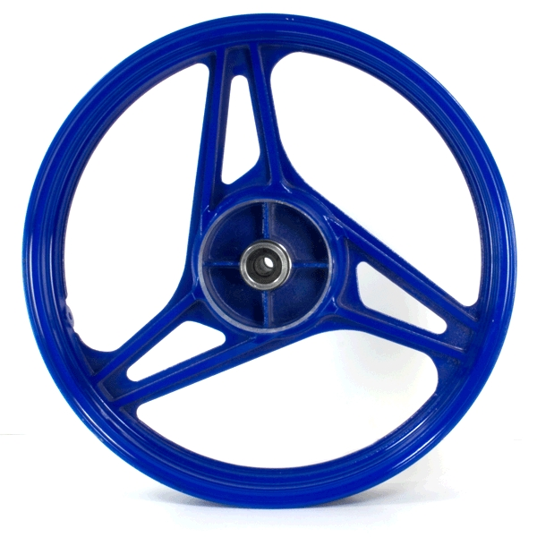 Rear Wheel 3 Spoke 18x2.50 Blue (Drum Brake)