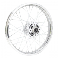 Chrome Off-Road Rear Wheel 18x1.85 With Silver Hub (Disc Brake)