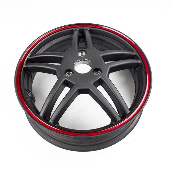 Rear Wheel Red Rim 13x3.50 for LJ125T-8M