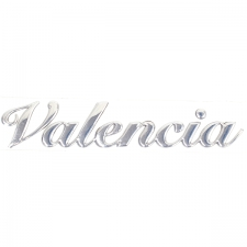 Chrome Embossed Valencia Sticker