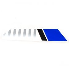 Blue White Front Left Suspension Sticker