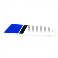 Blue White Front Right Suspension Sticker