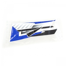 Blue White Right Tank Panel Sticker