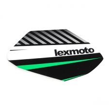 Green Black Left Fuel Tank Sticker