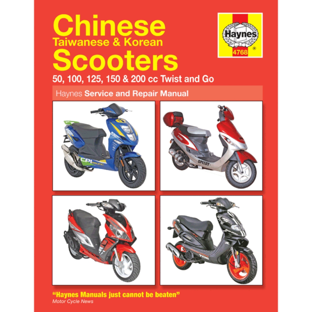 Haynes Chinese Scooter Service Repair Manual 4768 Hynm088 Cmpo Chinese Motorcycle Parts Online