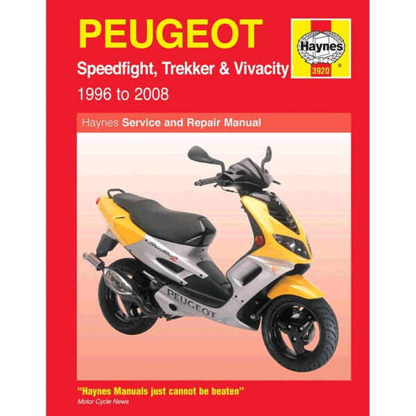 Haynes Manual 3920 For Peugeot Speedfight  Trekker