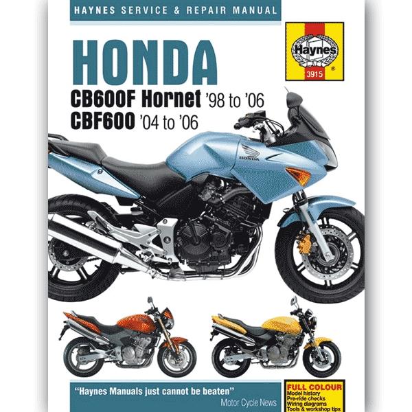 Haynes Manual 3915 For Honda Cb600f Hornet  Cbf600  98