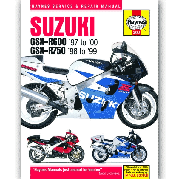 Haynes Manual 3553 For Suzuki GSXR600 97 00 GSXR750 96 99