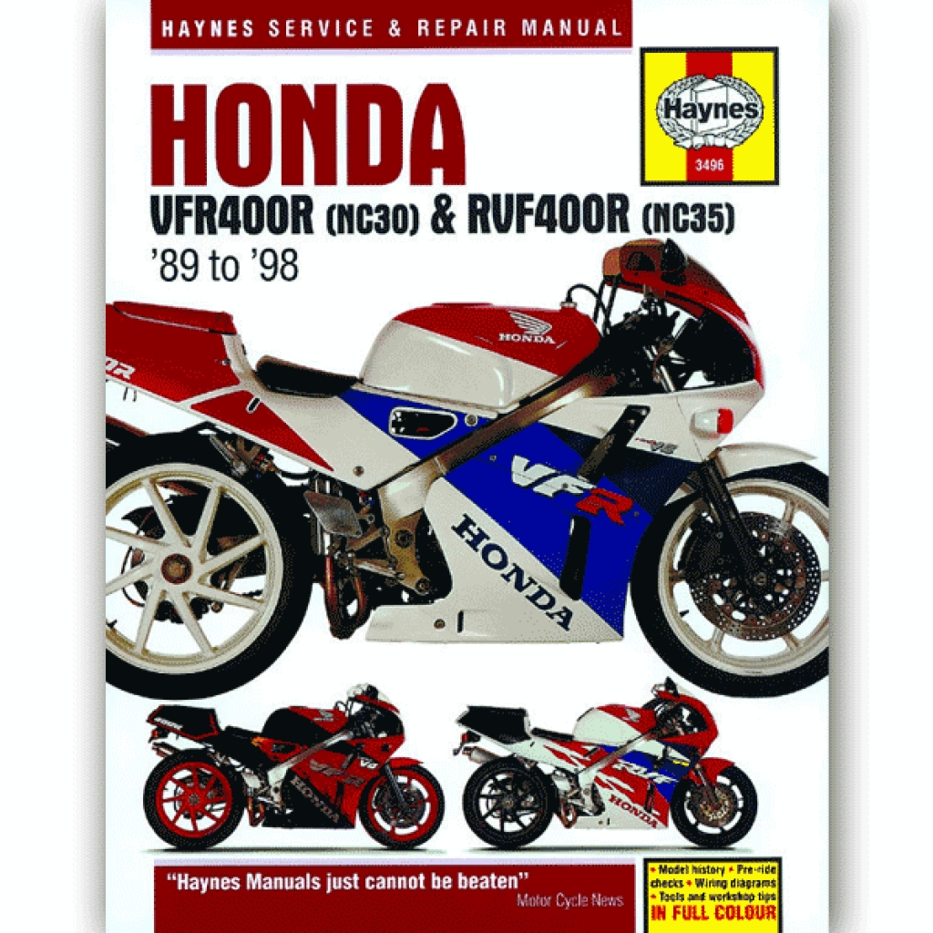 Haynes Manual 3496 for Honda VFR400 (NC30)/RVF400 (NC35) V-Fours (89-98) -  H3496 | CMPO | Chinese Motorcycle Parts Online