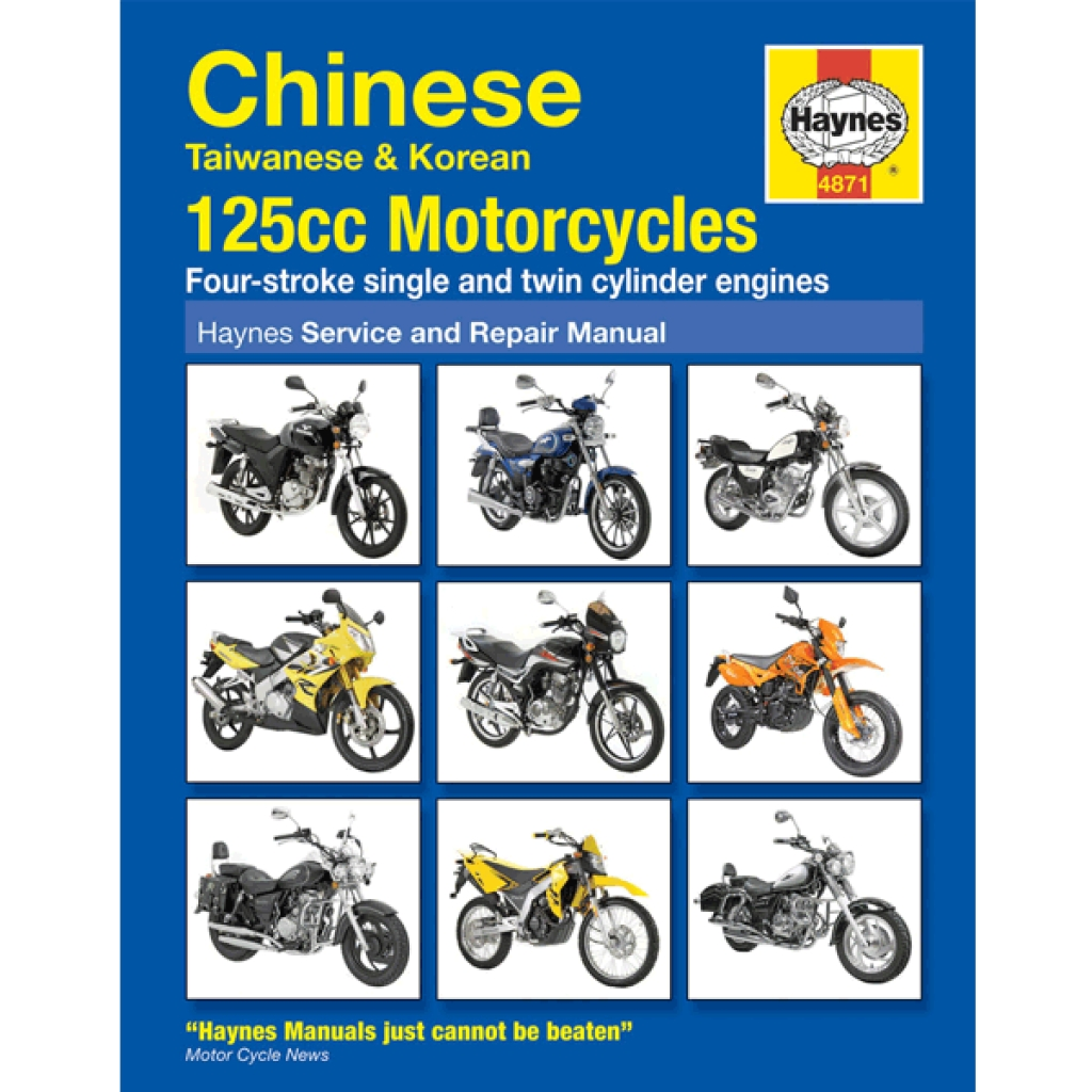 Haynes Chinese Motorcycle Service & Repair Manual 4871 - H4871 | CMPO |  Chinese Motorcycle Parts Online