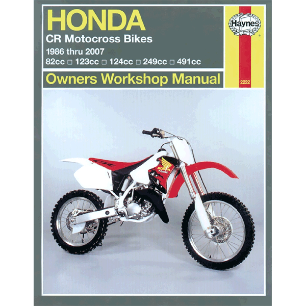 Haynes Manual 2222 for Honda CR Motocross Bikes (86-07) - H2222 | CMPO |  Chinese Motorcycle Parts Online