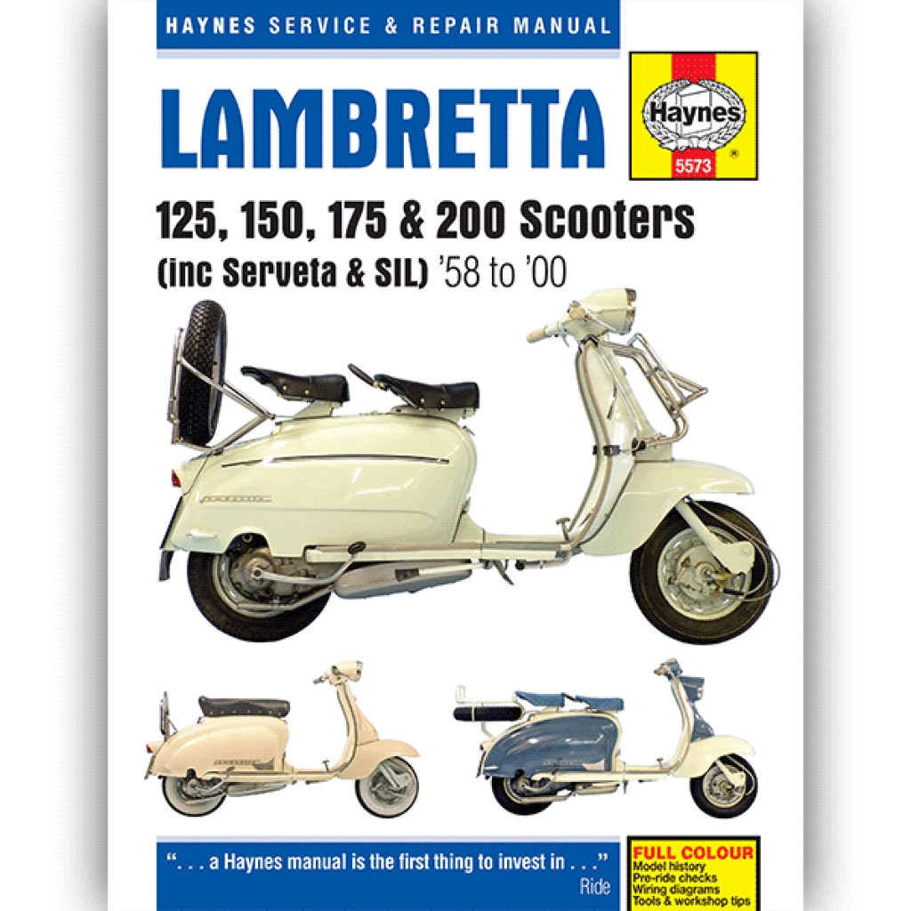 haynes manual 5573 for lambretta scooters 1958-00 - h5573 | cmpo | chinese  motorcycle parts online