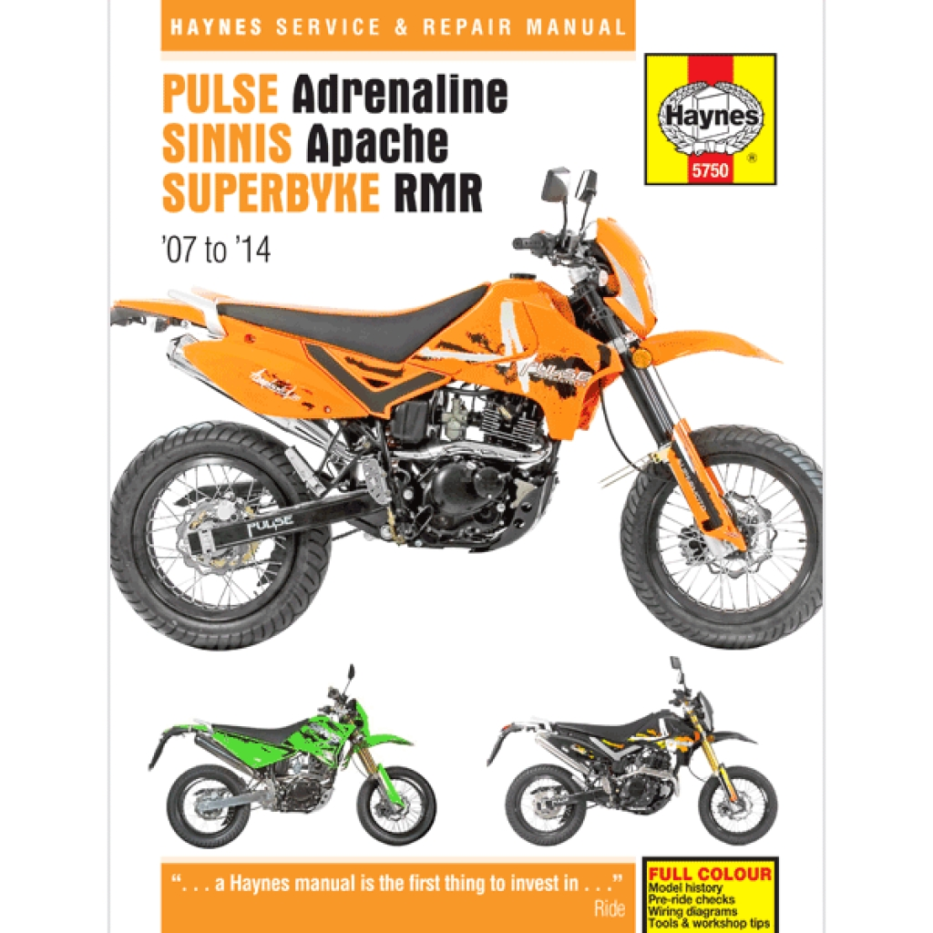 China Motorcycle Wiring Diagrams Haynes Manual 5750 For Pulse Adrenaline 125 250 H5750 Cmpo Chinese Parts Online