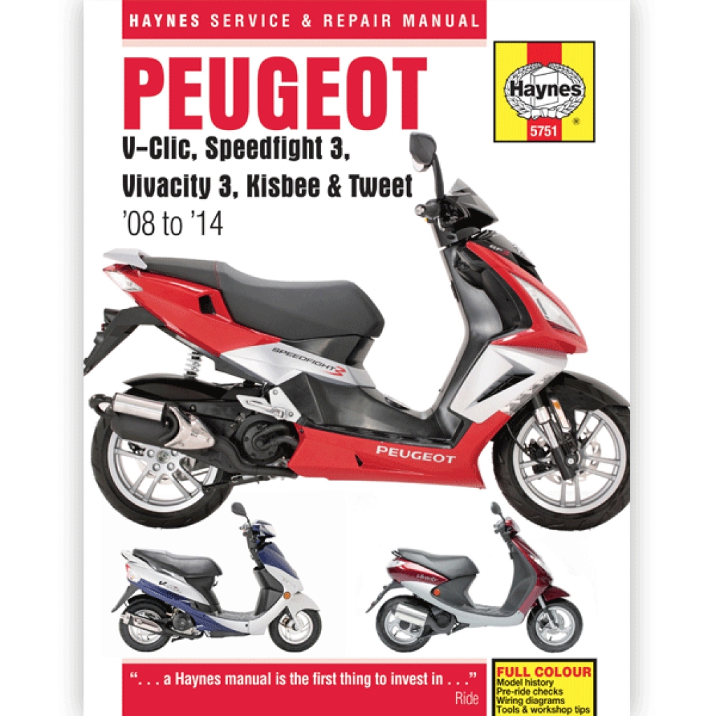 Haynes Manual 5751 For Peugeot Speedfight 3 50cc 09 14speedfight Chinese Wheeler Wiring Diagram 125 H5751 Cmpo Motorcycle Parts Online