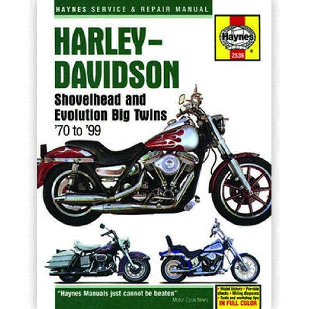 Haynes Manual 2536 for HARLEY-DAVIDSON Shovelhead and Evolution Big Twins -  H2536   CMPO   Chinese Motorcycle Parts Online
