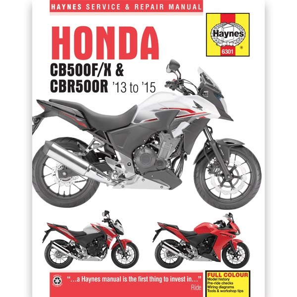 haynes manual 6301 for honda cb500f/x & cbr500r 2013-2015 - h6301 | cmpo |  chinese motorcycle parts online