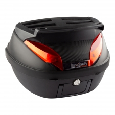 Lextek Motorcycle/Scooter Luggage Box 42L with Top Rack