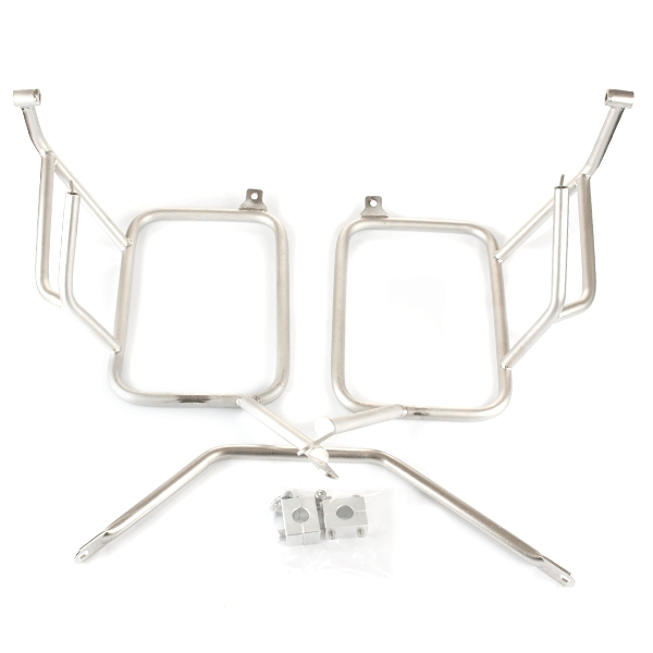 Lextek Aluminium Pannier Set 62L with Mounting Brackets for BMW F650 (00-07) Silver