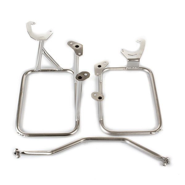 Lextek Aluminium Pannier Set 62L with Mounting Brackets for KTM 1190 Adventure (08-16) Black