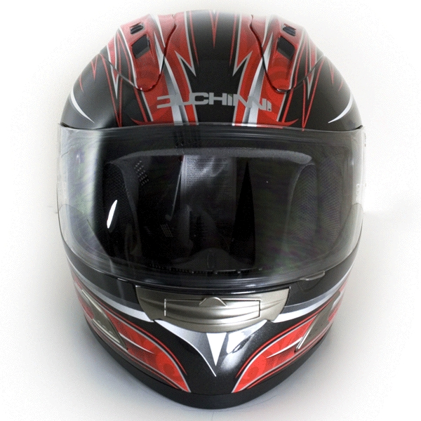 Red/Silver Motorcycle Helmet Small
