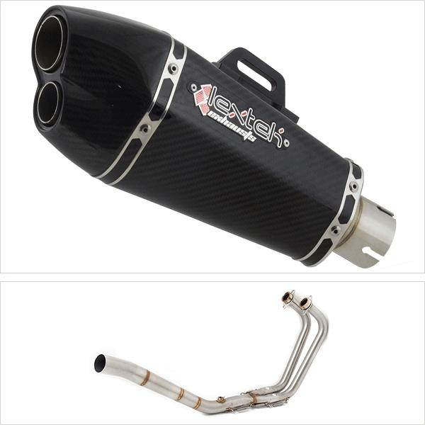 Lextek XP13C Exhaust System for Yamaha MT-03 & YZF R3 (15-18)
