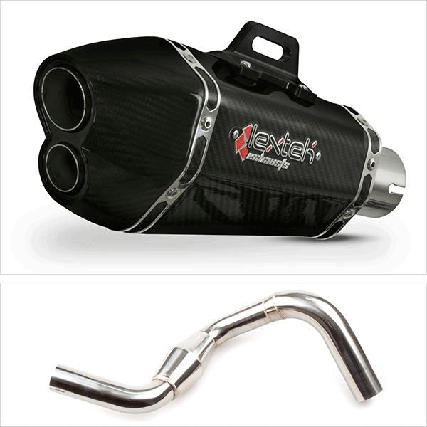 Lextek XP13C with Link Pipe for KTM 390 Duke (13-16)